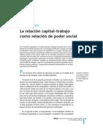 La Relacion Capital-trabajo J.sempERE