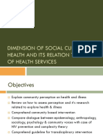 Dimension of Social Culture on Health Illness