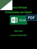 2 Clase Función Encontrar en Excel 2010