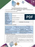 Guía de Actividades y Rúbrica de Evaluación - Fase 4 - Focalización de Ejes Curriculares