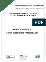 2310200-MA-002 Manual de Política de Copias de Seguridad y Recuperación_V2_copia_controlada