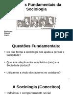 Sociologia - Autores Fundamentais Slide