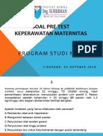 SOAL PRE TEST MATERNITAS BU YULI E.pptx