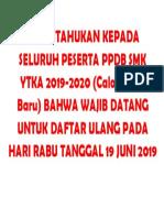 DIBERITAHUKAN KEPADA SELURUH PESERTA PPDB SMK YTKA 2019.docx