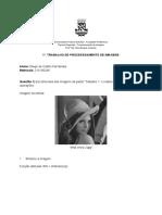 1º Trabalho de Processamento de Imagens - Documentos Google