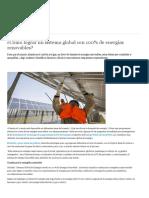 Artículo - Cómo Lograr Un Sistema Global Con 100% de Energías Renovables - DW, Abr.2019