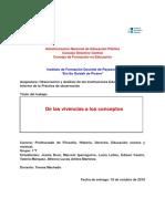 Obs. y Análisis de las Instituciones. Liceo N°5
