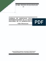 Fabio Wasserman, Formas de Identidad Politica y Representaciones de la nacion en la Generacion del 37.pdf