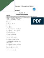 Algebra Linial Tranformaciones Liniales
