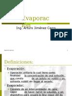 Oreraciones Diapositivas de Evaporadores