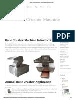 Bone Crusher Machine, Bone Powder Machine Price