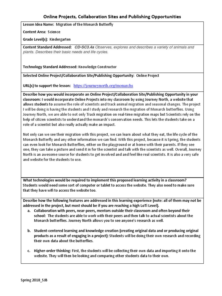 online project lesson plan   Learning   Pedagogy