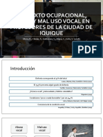 Contexto Ocupacional, Abuso y Mal Uso Vocal [Autoguardado]
