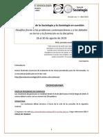 XIII Jornadas de Sociología del 26 al 30 de agosto de 2019, Buenos Aires - Argentina - Circular Nro3
