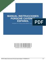 Manual Instrucciones Porsche Cayenne Espanol