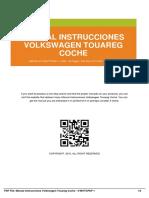 Manual Instrucciones Volkswagen Touareg Coche