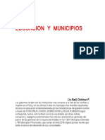 Educacion y Municipios