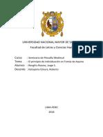 El Principio de Individuación en Santo Tomas de Aquino
