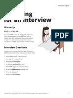 Teacher Preparing for an Interview US