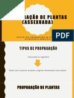 Propagação de Plantas (Assexuada)