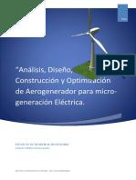 Análisis, Diseño, Construcción de Aerogenerador - Proyecto.pdf