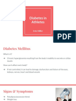 diabetes in athletes