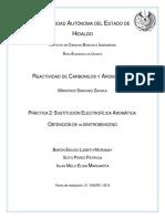 Práctica 2- Sustitución electrofílica aromática obtención de m-dinitrobenceno.docx