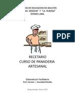 Recetario Panaderia Artesanal i