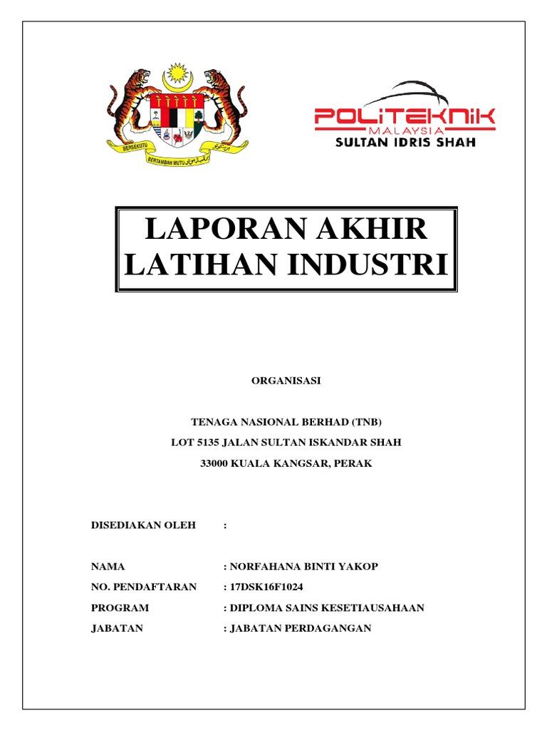 Autorecovery Save Of Laporan Akhir Latihan Industri Docx