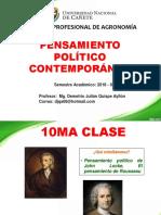 10ma Clase de Pensamiento Politico Contemporaneo