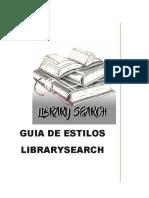 Guia de Estilos LibrarySearch