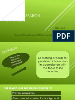Teknik Pencarian Literatur Dan Analisis Jurnal Keperawatan