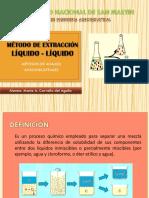 Método de Extracción Liquido - Liquido