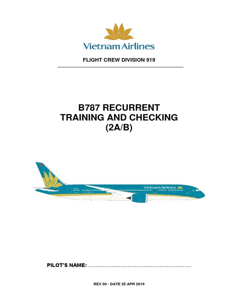 B787 Recurrent Training 2AB Rev00 Date 25Apr19 For Pilot
