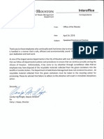 Letter from Solid Waste Department
