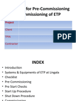Pre-Commissioning & Commissioning for ETP