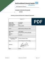 SOP 900 v1.3. Archiving Retrieval and Destruction of Research Documents SOP 900 v1.3