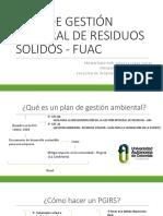 Plan de gestión de residuos sólidos