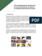 Participacion de Los Materiales de Construccion Sasape