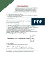 Terminos Algebraicos y Polinomios Especiales