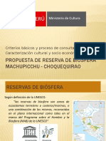 Caracterización Cultural Socioeconómica Reserva de Biósfera Machupicchu - Choquequirao