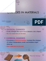 Changes in Materials