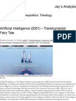 Artificial Intelligence (2001) – Transhumanist Fairy Tale – Jay's Analysis