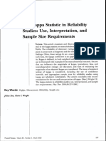 The Kappa statistic in reliability studies- Use, interpretation, and sample size requirements - Sim & Wright (2005).pdf