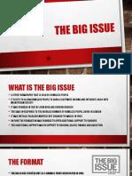 the big issue presentqation