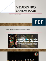 Actividades Pro Bici Lambayeque