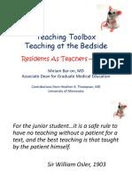 Teaching Toolbox Bedside