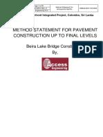 Method statement for road work