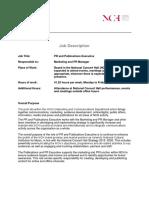Pr and Publications Exec Apr 2019 Job Description