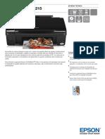 Epson Stylus SX215 Scheda Tecnica